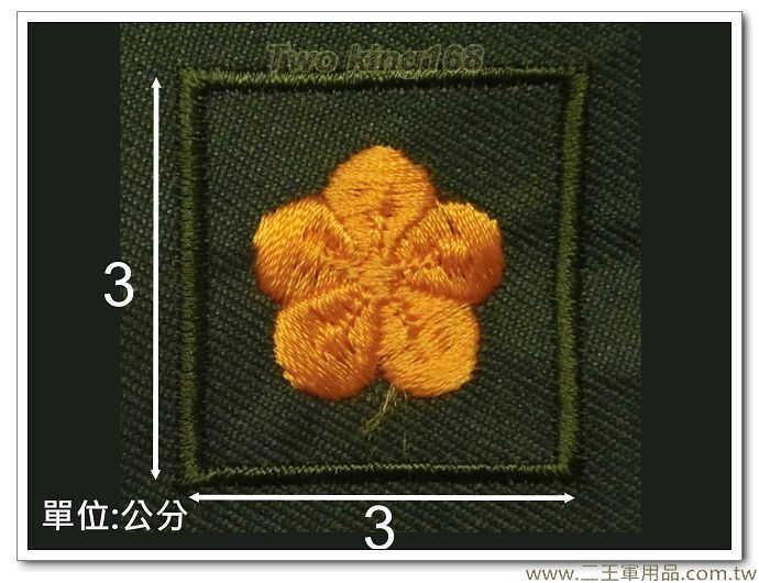 早期陸軍野戰草綠服領章(少校)-草綠底領章-舊式-早期國軍領章-10元