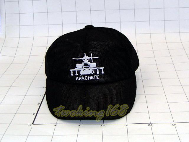 ★阿帕契攻擊直昇機軍帽(黑)NO.2-19★Cosplay★軍帽★小帽★棒球帽★闊邊帽★八角帽★潮流