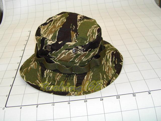 ★美軍綠虎斑迷彩擴邊帽(十字格布)★Cosplay★軍帽★小帽★棒球帽★闊邊帽★八角帽★潮流