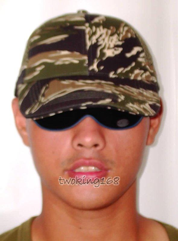 ★☆綠虎斑迷彩排汗網帽★☆Cosplay★☆軍帽★☆小帽★☆棒球帽★☆闊邊帽★☆八角帽★☆潮流