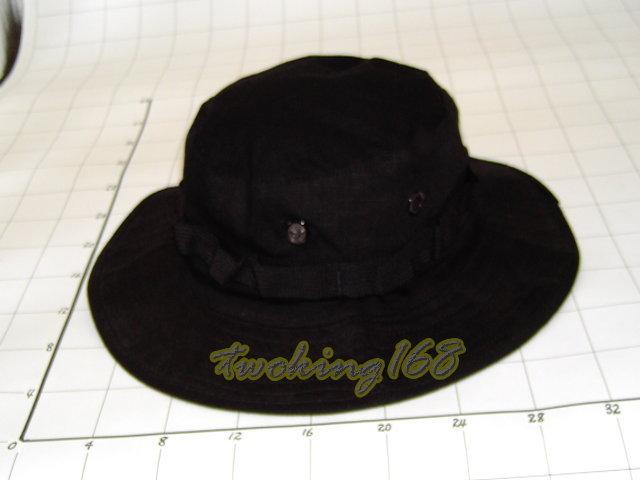 ★黑色特勤隊擴邊帽(十字格布)★Cosplay★軍帽★小帽★棒球帽★闊邊帽★八角帽★潮流