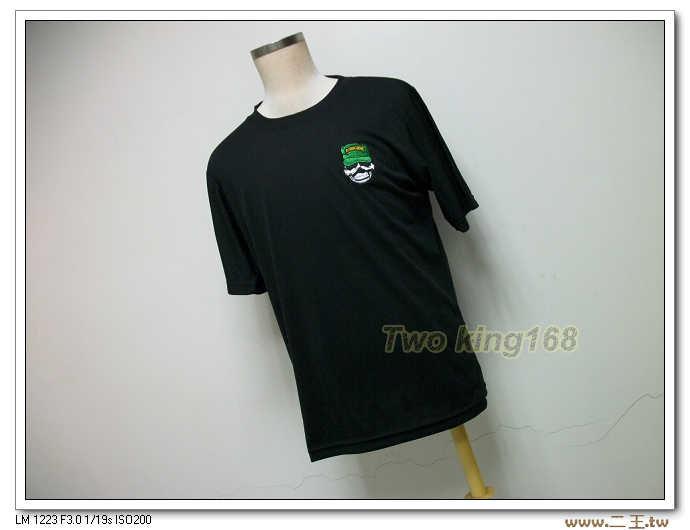 綠扁帽特種部隊排汗衫NO.43(黑色圓領)(電腦刺繡)綠扁帽T恤