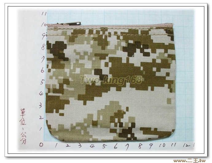 美軍沙漠數位迷彩零錢包-C1-4