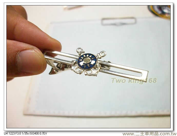 海軍領帶夾(銀色)-海軍 徽領帶夾-海軍士官領帶夾-t3-1