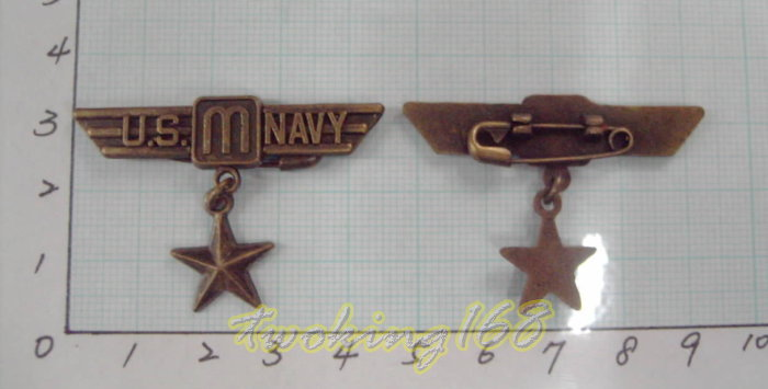 ~二王軍警用品社~U.S.NAVY(古銅色)/軍牌/金屬紀念章/