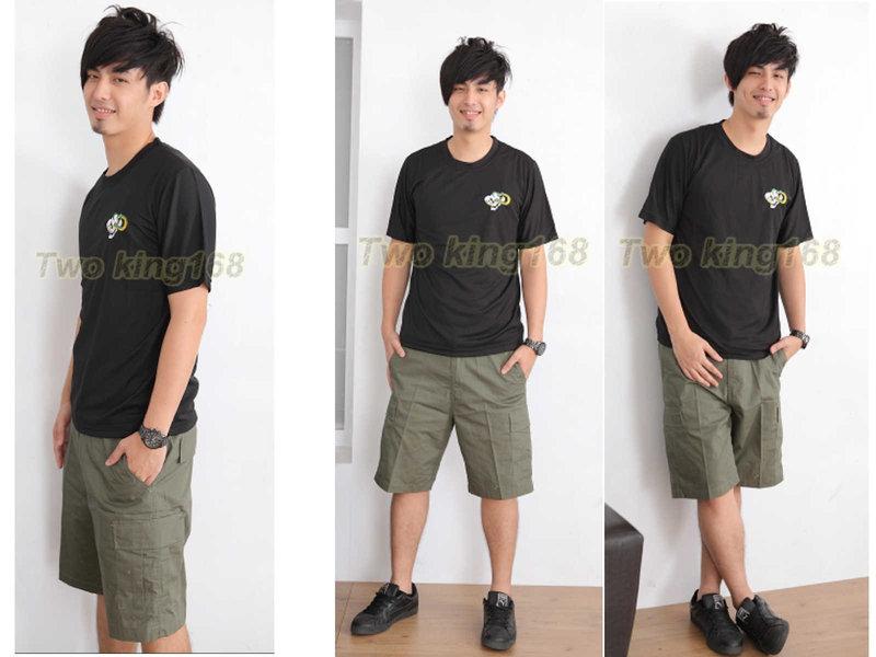 ★☆軍綠五分褲(十字格布)★短褲★☆軍褲★ 工作褲