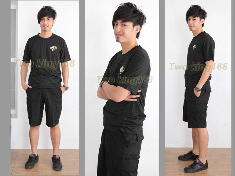 ★☆黑色五分褲(十字格布)☆迷彩褲★☆生存遊戲★☆軍事風格★短褲 工作褲