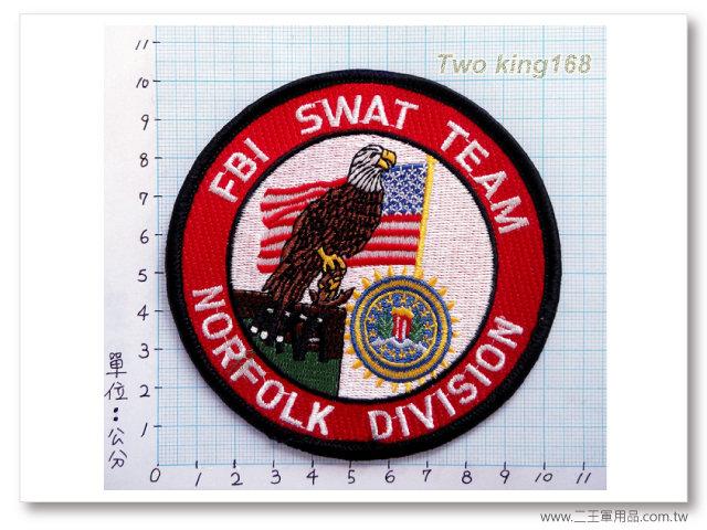 美國聯邦調查局特警隊胸章-國外557-1 80元