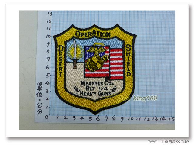 -美國海軍陸戰隊臂章-沙漠風暴-沙漠盾牌行動-國外437-120元