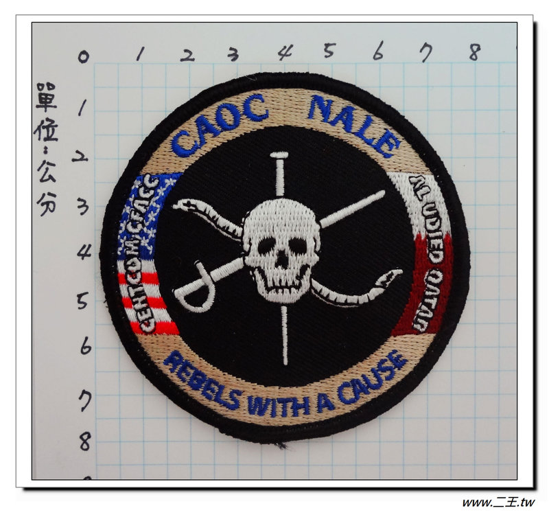 ★★美國臂章☆美國空軍空天作戰中心臂章(CADC NACE)(黑色)-80元-國外460