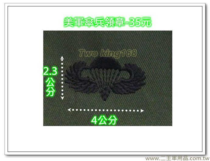 ☆美軍傘兵章 胸章 美國 陸軍 叢林迷彩 迷彩服 早期 低視度 野戰服