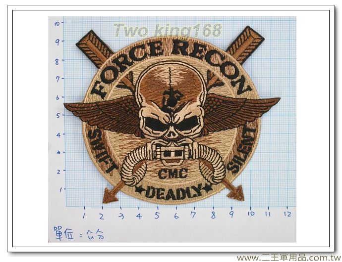 美國海軍陸戰隊強偵連(咖啡色箭頭型)2-22-3