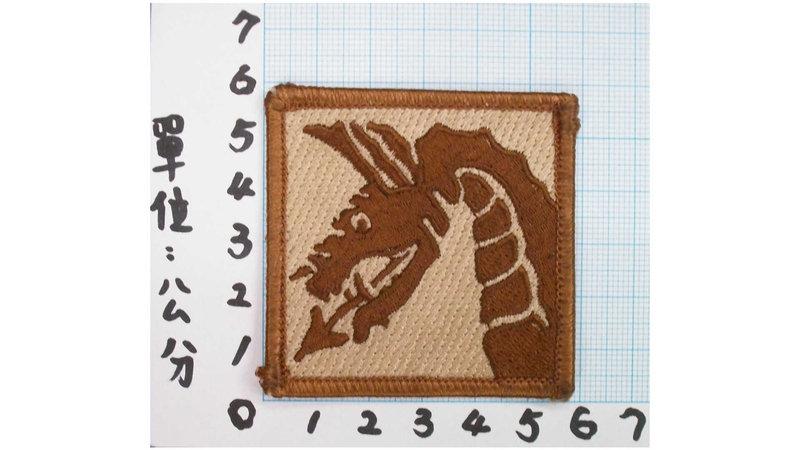 ☆美國陸軍第18空降師臂章(沙色)5-16-1 美國 陸軍 沙漠迷彩 迷彩服 早期 低視度 野戰服