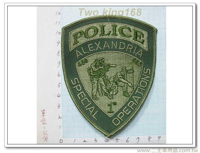 ★美國 警察 維吉尼亞亞力山大特警隊 臂章 -國外402
