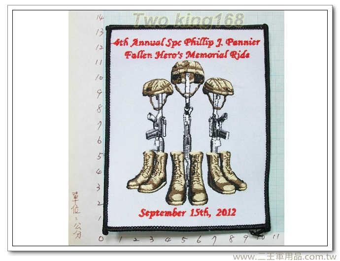 ☆美軍 陣亡將士紀念 臂章-國外289