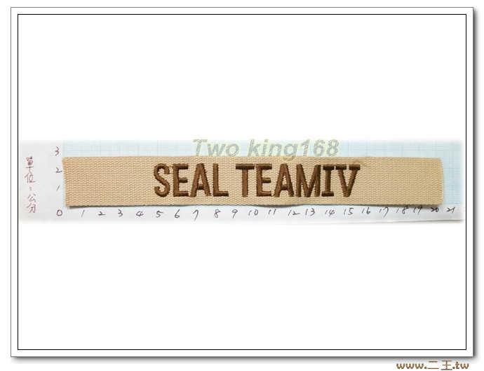 11-20-2美國海軍特種部隊海豹6隊名條沙色版-美軍名條