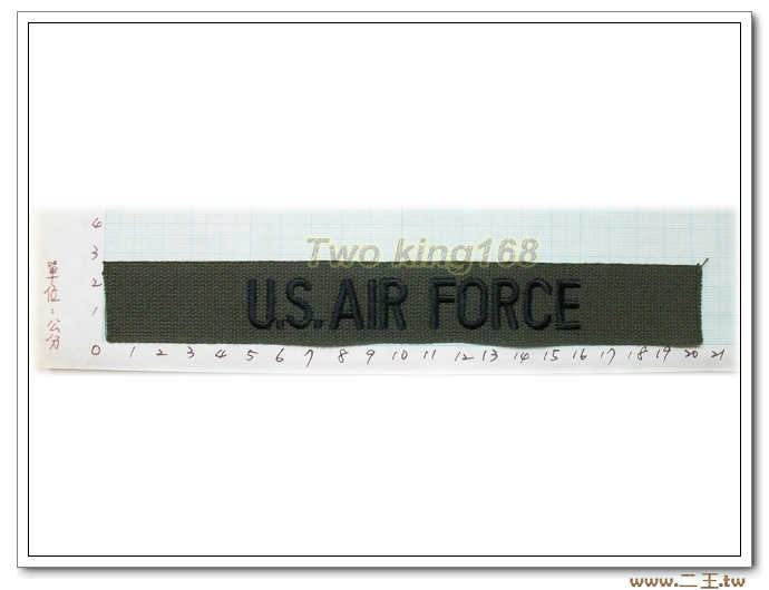 11-17-1美國空軍名條O.D版黑字-美軍名條