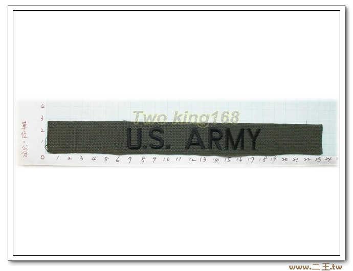 ★11-14-1美軍名條O.D版黑字-美軍名條 美國 陸軍 叢林迷彩 迷彩服 早期 低視度 野戰服