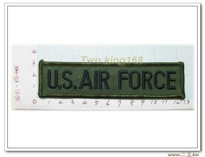 11-19-6美國空軍名條 O.D版包邊版-美軍名條