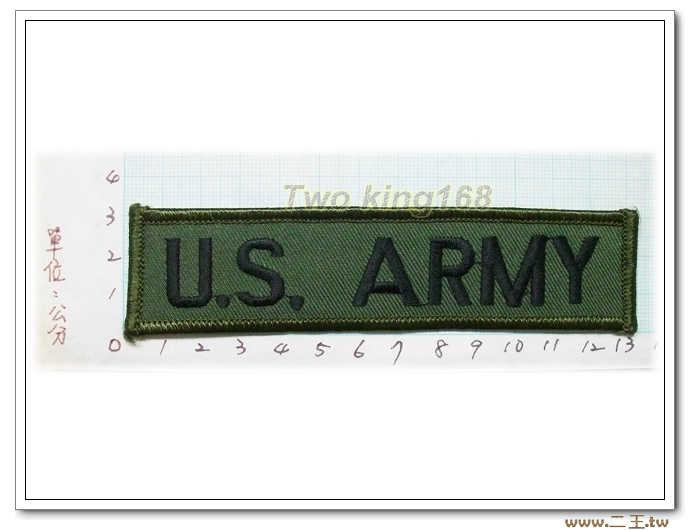 11-19-3美國陸軍名條 O.D版-美軍名條