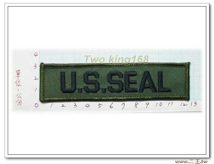 11-19-1美國海軍特種部隊(海豹)名條 O.D版包邊版-美軍名條