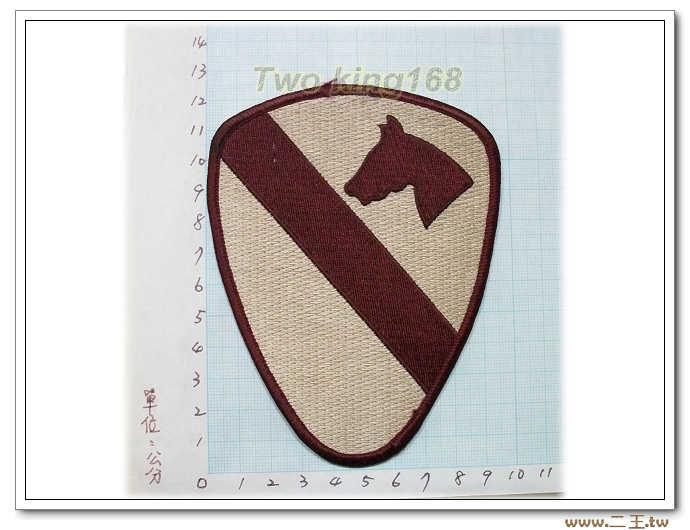 ☆5-11-2美軍第1騎師 第一騎兵師-臂章 美國 陸軍 沙漠迷彩 迷彩服 早期 低視度 野戰服
