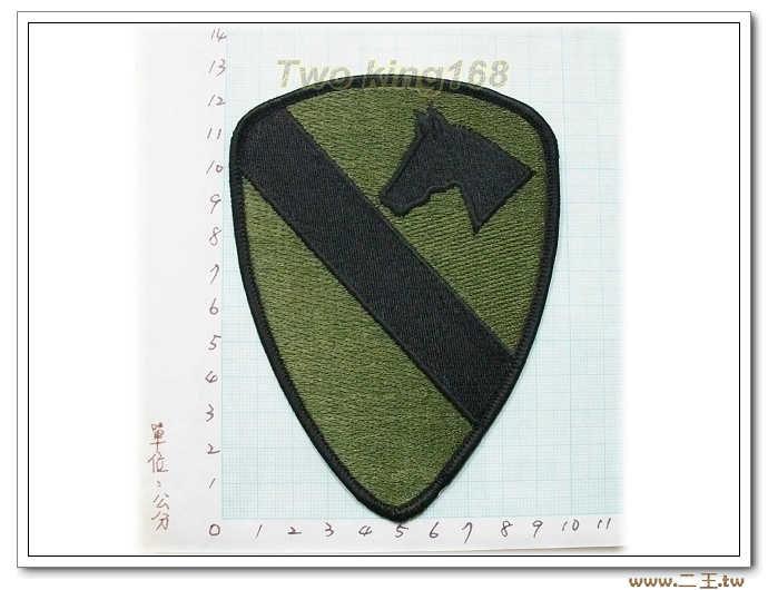 ★5-11-4 美軍第1騎師沙O.D版--第一騎兵師- 美國 陸軍 叢林迷彩 迷彩服 早期 低視度 野戰服
