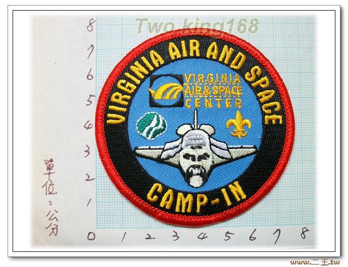 維吉尼亞航太中心-國外65-台灣製造外銷國外臂章.數量有限值得珍藏