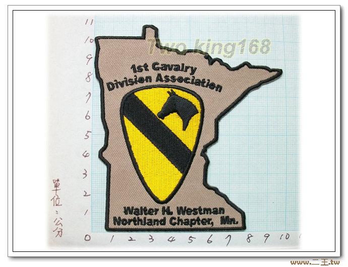 美國陸軍第一騎兵師退伍協會-國外53-台灣製造外銷國外臂章.數量有限值得珍藏