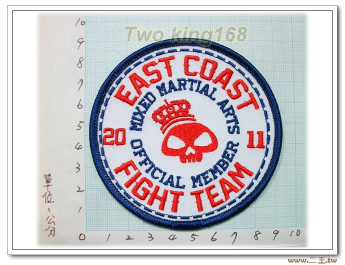 美國東海岸戰鬥部隊(白底)-國外27-台灣製造外銷國外臂章.數量有限值得珍藏
