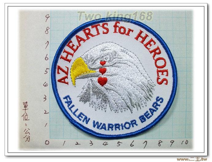 美軍紀念章-英雄心獵鷹淚-國外23-台灣製造外銷國外臂章.數量有限值得珍藏