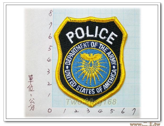 ★☆美軍臂章-美國臂章-台灣製造外銷國外臂章-美國陸軍司令部憲兵臂章(小)-10-14-1