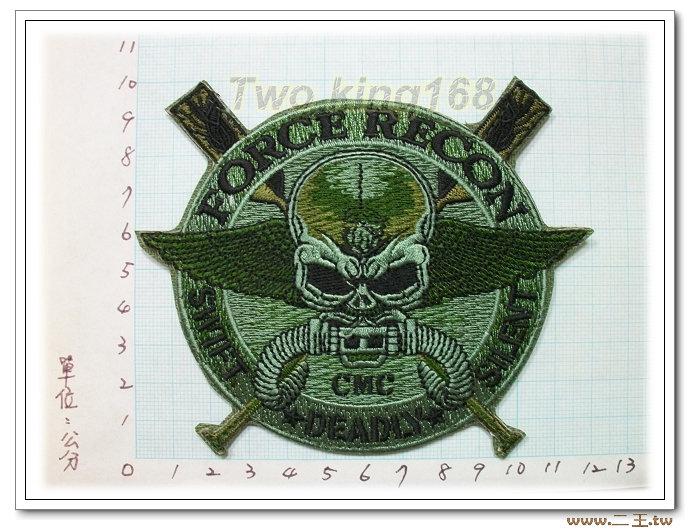 ☆美國海軍陸戰隊強偵連臂章(綠色)2-22-1☆