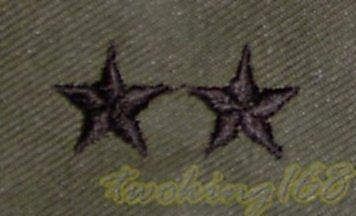 美軍少將領章☆美國 陸軍 叢林迷彩 迷彩服 早期 低視度 野戰服