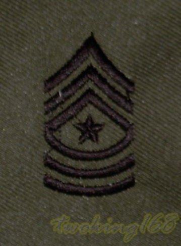 美軍一等士官長領章/☆美國 陸軍 叢林迷彩 迷彩服 早期 低視度 野戰服