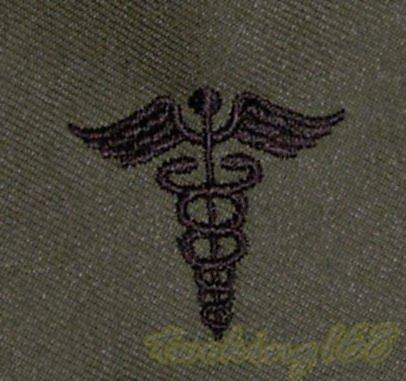 美軍軍醫領章/美軍領章☆美國 陸軍 叢林迷彩 迷彩服 早期 低視度 野戰服