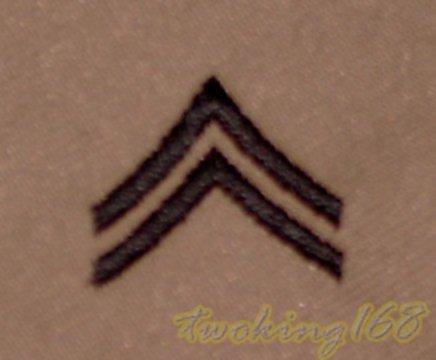 美軍一兵(沙漠黑)領章/美軍領章☆美國 陸軍 沙漠迷彩 迷彩服 早期 低視度 野戰服