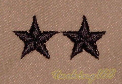 美軍少將(沙漠黑)領章/美國 陸軍 沙漠迷彩 迷彩服 早期 低視度