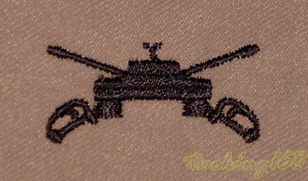 美軍裝甲(沙漠黑)領章/☆★ 美國 陸軍 沙漠迷彩 迷彩服 早期 低視度 裝甲兵 戰車兵