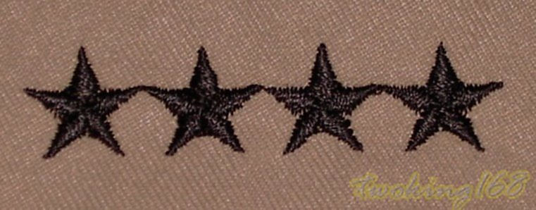 美軍上將(沙漠黑)領章/美軍領章☆美國 陸軍 沙漠迷彩 迷彩服 早期 低視度
