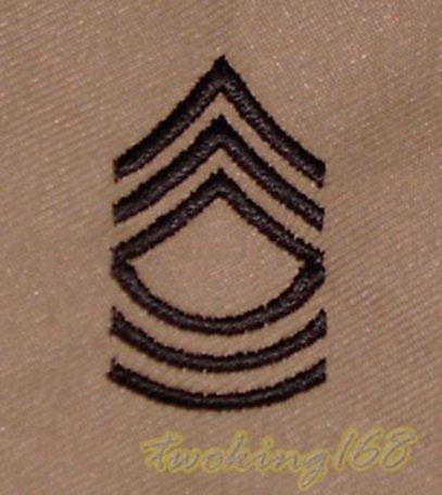美軍二等士官長(沙漠黑)領章/☆美國 陸軍 沙漠迷彩 迷彩服 早期 低視度