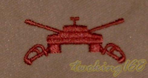 美軍裝甲(沙漠)領章/★美國 陸軍 沙漠迷彩 迷彩服 早期 低視度 裝甲兵 戰車兵