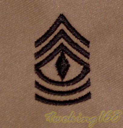 美軍一等士官長(沙漠黑)領章/☆美國 陸軍 沙漠迷彩 迷彩服 早期 低視度