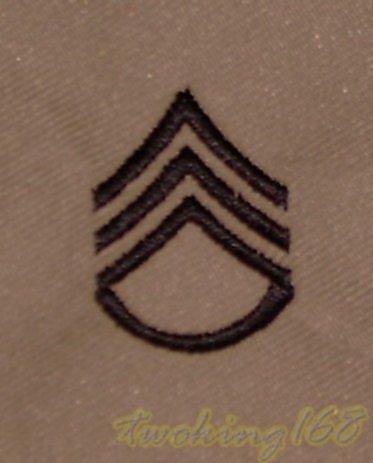美軍上士(沙漠黑)領章☆美國 陸軍 沙漠迷彩 迷彩服 早期 低視度
