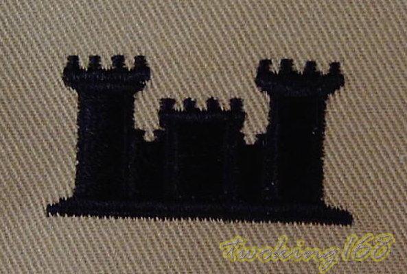 美軍工兵(沙漠黑)領章☆ 美國 陸軍 沙漠迷彩 迷彩服 早期 低視度