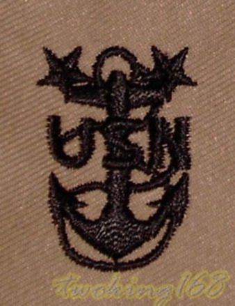 美軍海軍士官長(沙漠黑)領章/☆ 美國 沙漠迷彩 迷彩服 早期 低視度