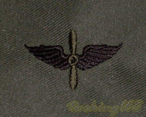 美軍陸軍航空隊領章/12-20-18 美國 陸軍 叢林迷彩 迷彩服 早期 低視度