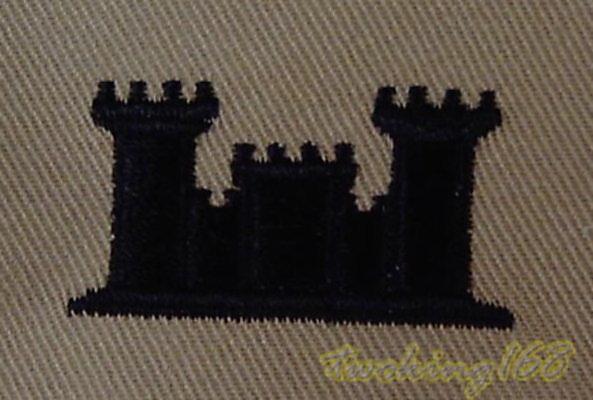 美軍工兵領章/ 美國 陸軍 沙漠迷彩 迷彩服 早期 低視度
