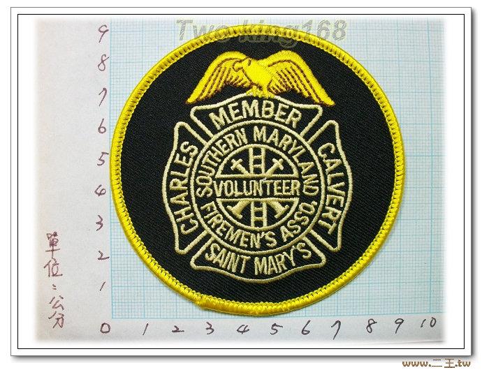美國馬里蘭州消防部門-國外84-台灣製造外銷國外臂章.數量有限值得珍藏