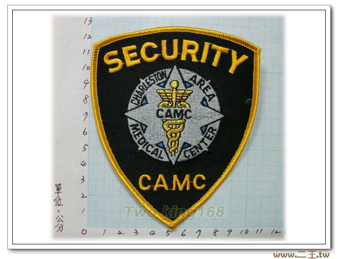 查爾斯頓區醫療中心警官臂章10-58